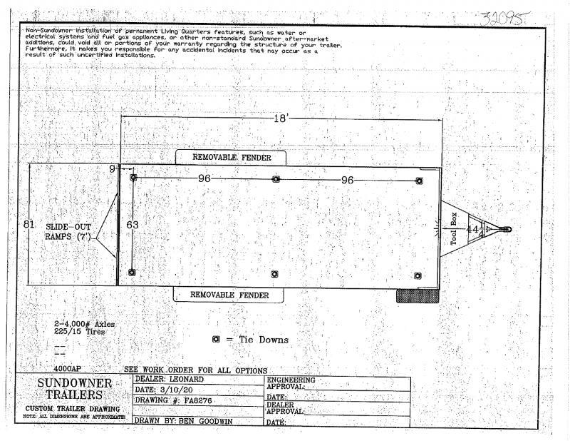 2020 18' SUNDOWNER BUMPER  PULL OPEN UTILITY TRAILER