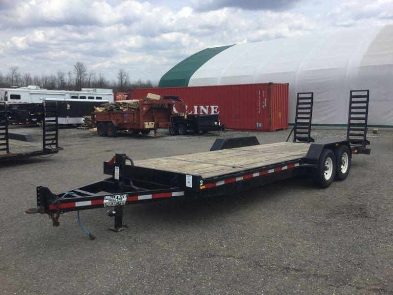 2008 7X22 ROLLS RITE BUMPER PULL EQUIPMENT TRAILER
