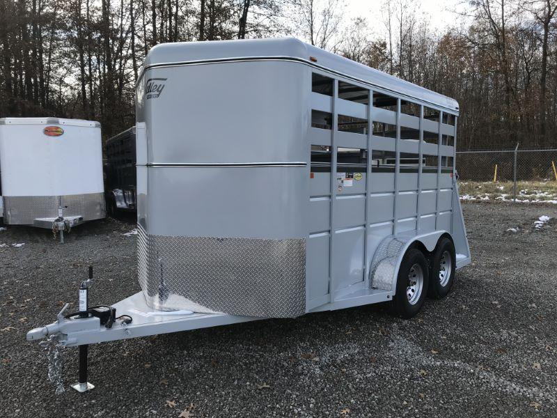 2020 7X14 VALLEY BUMPER PULL STOCK TRAILER