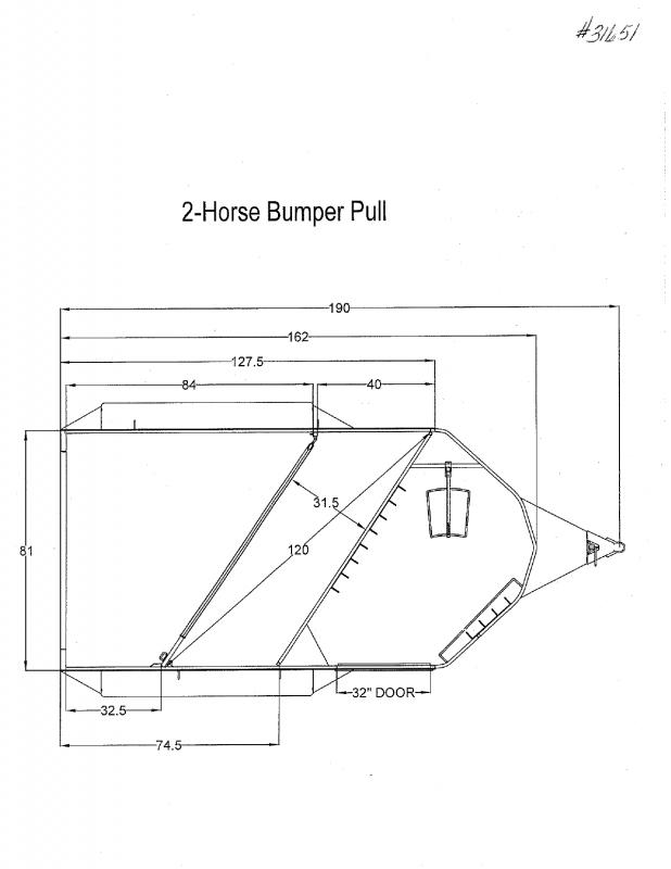 2020 2 HORSE TRAILS WEST BUMPER PULL HORSE TRAILER