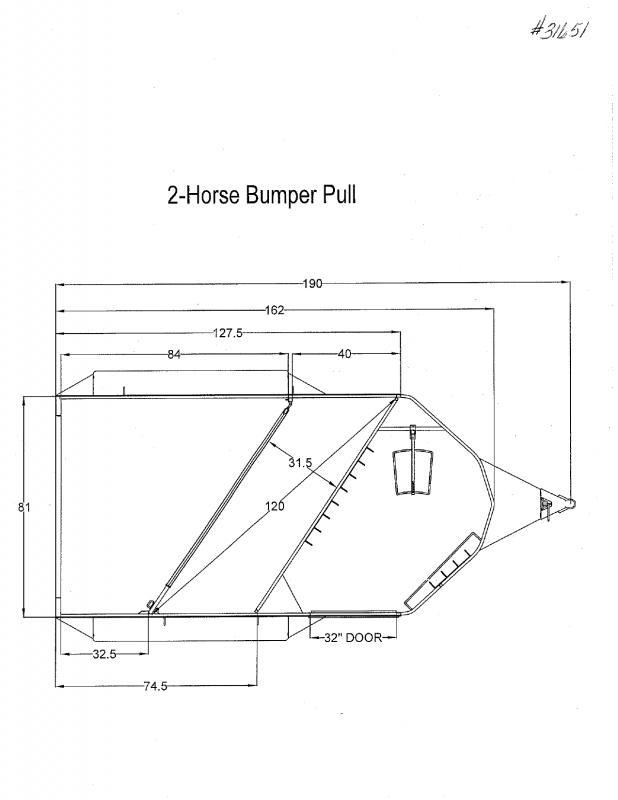 2020 2 HORSE TRAILS WEST BUMPER PULL HORSE TRAILER