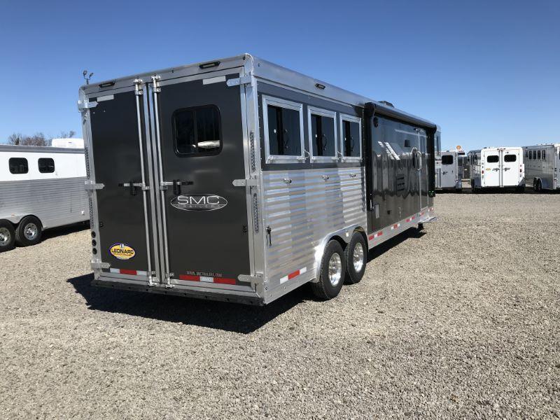 2020 3 HORSE SMC GOOSENECK W/LIVING QUARTER HORSE TRAILER