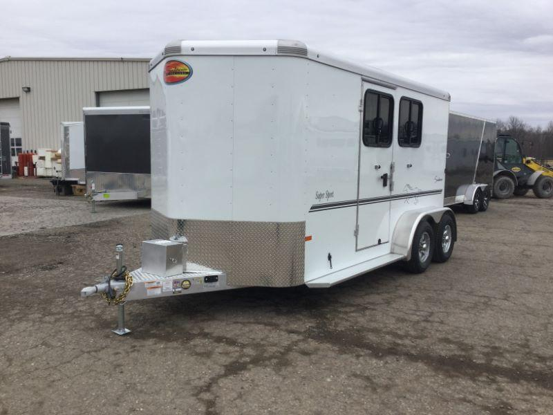 2020 2 HORSE SUNDOWNER BUMPER PULL W/DRESS HORSE TRAILER