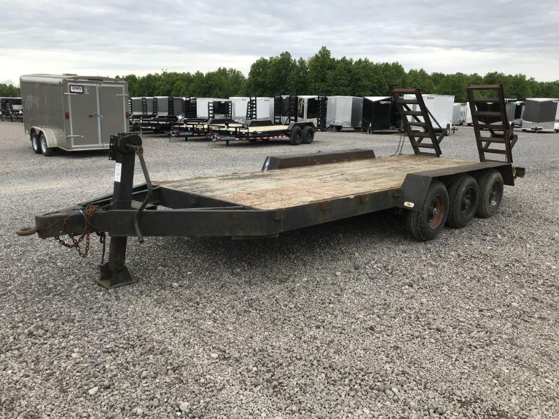 1987 6.5X22 HOOSIER BUMPER PULL EQUIPMENT TRAILER