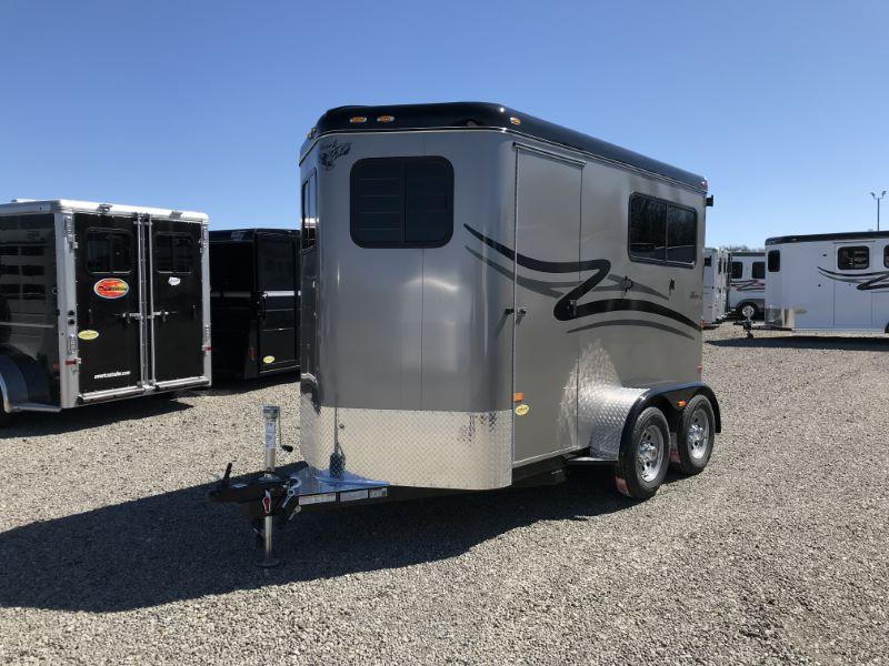 2020 HAWK STRAIGHT LOAD W/WALK THRU BUMPER PULL HORSE TRAILER