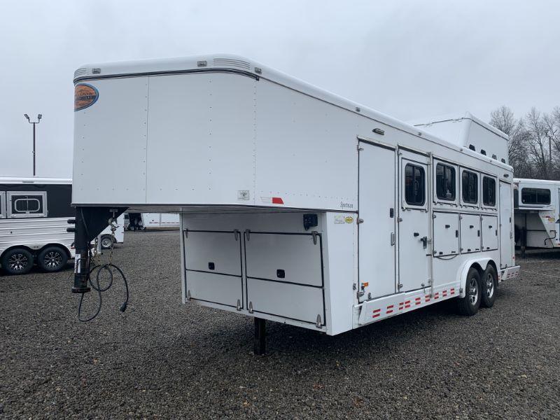 2015 4 HORSE SUNDOWNER GOOSENECK W/DRESS HORSE TRAILER