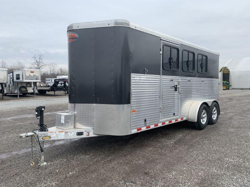 2018 3H SUNDOWNER BUMPER PULL SLANT W/DRESS HORSE TRAILER