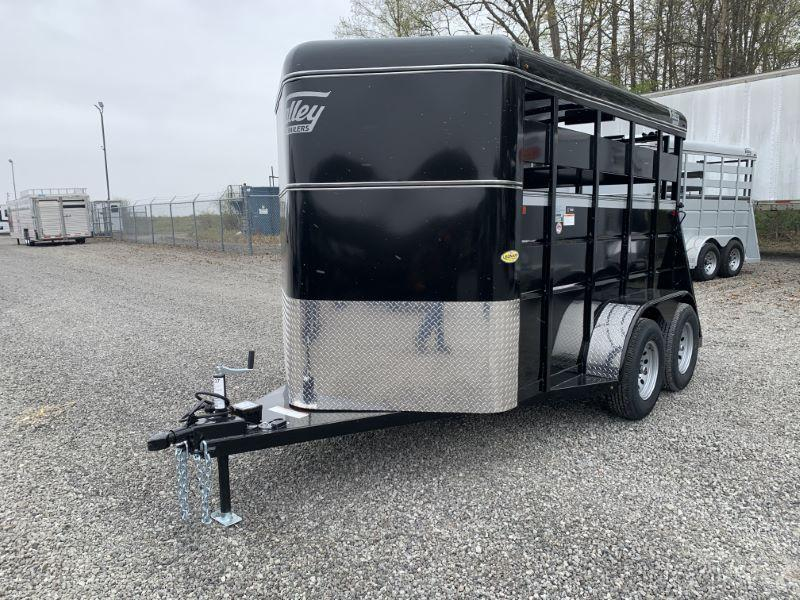 2020 6X12 VALLEY BUMPER PULL STOCK TRAILER