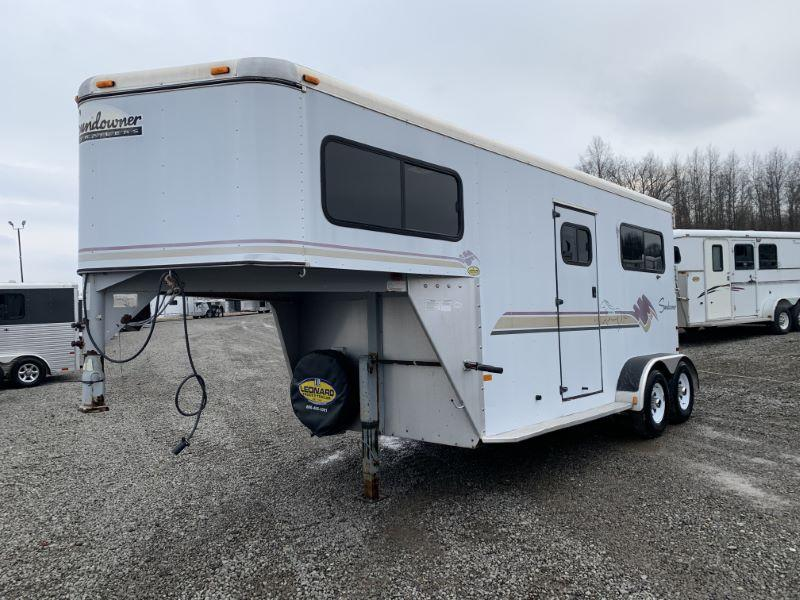 1998 2 HORSE SUNDOWNER GOOSENECK W/DRESS HORSE TRAILER
