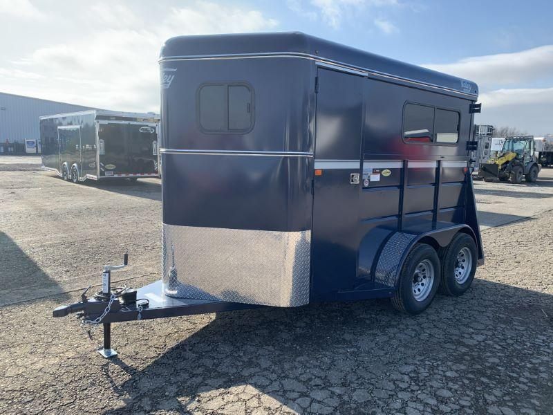 2020 2 HORSE VALLEY BUMPER PULL STRAIGHT LOAD HORSE TRAILER