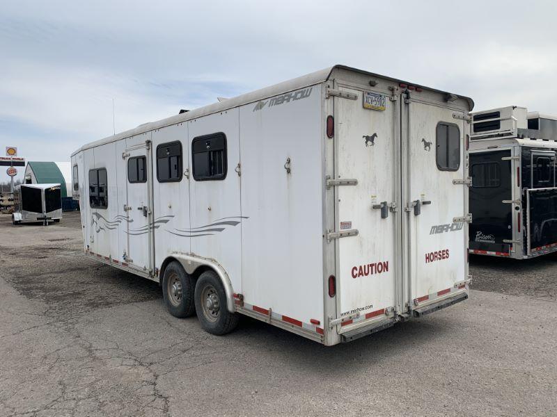 2006 3 HORSE MERHOW GOOSENECK LIVING QUARTERS HORSE TRAILER