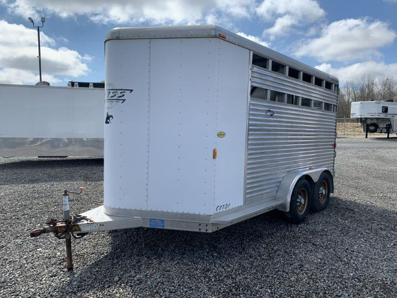 2003 2 HORSE EXISS BUMPER PULL W/DRESS HORSE TRAILER