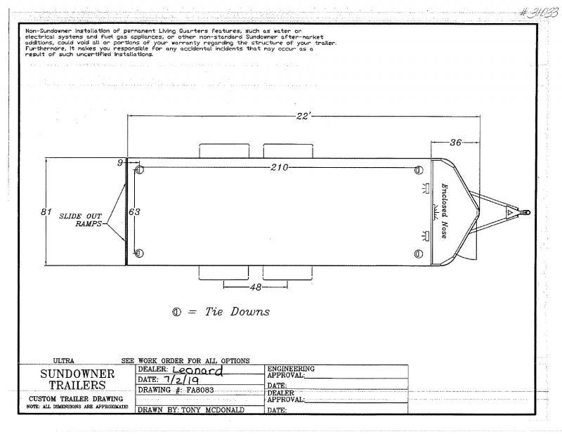 2020 7X22 SUNDOWNER BUMPER PULL OPEN CAR TRAILER