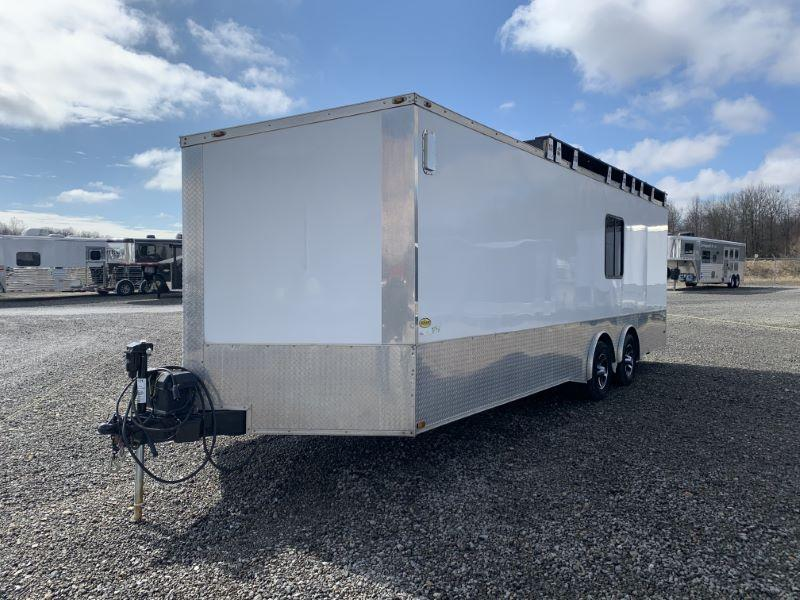 2013 24' FREEDOM BUMPER PULL ENCLOSED CAR TRAILER