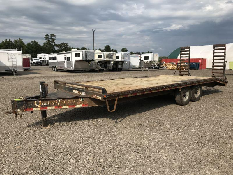 2012 8.5X24 QUALITY TAG HITCH EQUIPMENT TRAILER