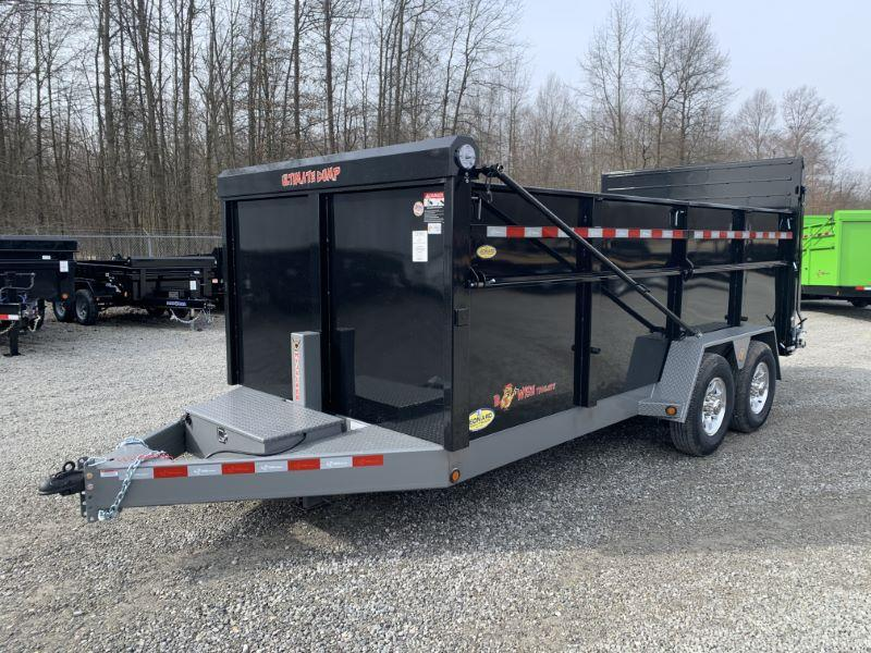 2019 7X16 BWISE BUMPER PULL DUMP LOW PROFILE TRAILER