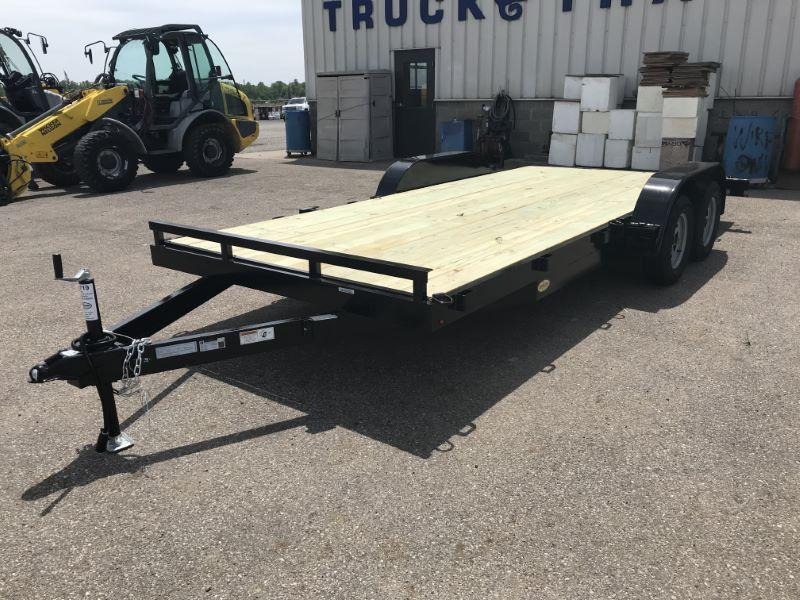 2021 7X18 TRAILER MANUFACTURERS OF TOLEDO BUMPER PULL OPEN CAR TRAILER