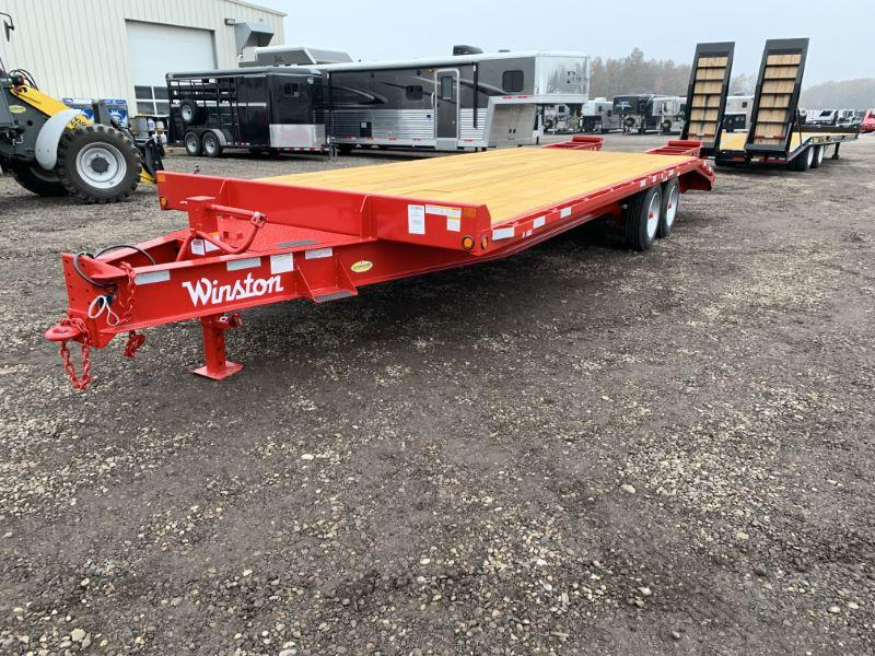 2020 8X25 WINSTON BUMPER PULL EQUIPMENT TRAILER