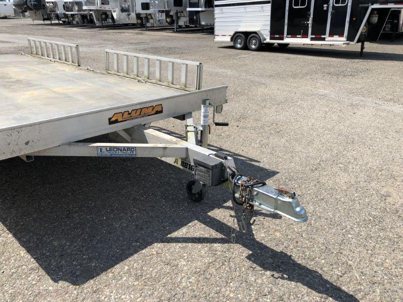 2013 7.5X16 ALUMA BUMPER PULL OPEN ATV/SNOWMOBILE TRAILER