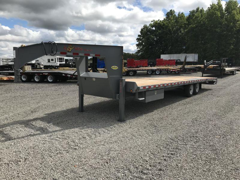 2020 8.5X28 BWISE GOOSENECK DECK OVER EQUIPMENT TRAILER