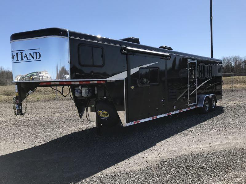 2020 3 HORSE BISON COACH GOOSENECK  LIVING QUARTERS HORSE TRAILER