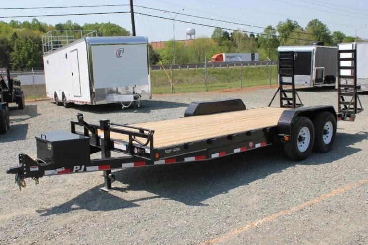 2019 PJ Trailers 20' CC 16K w/ Tongue Box and Fold Up Ramps