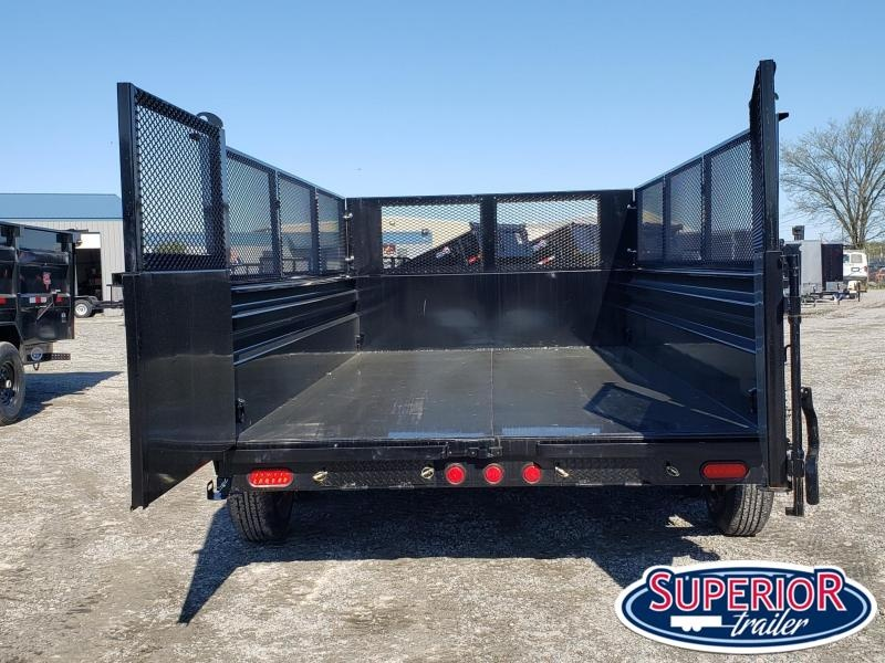 2020 PJ Trailers 7x14 Low Pro Telescopic Dump w/ Expanded Metal Extensions