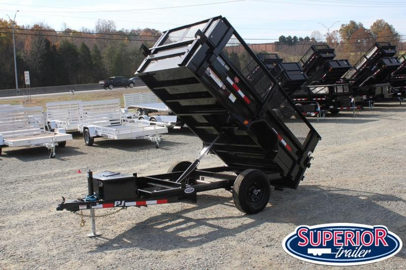2020 PJ Trailers 5X10 D5 5K Dump w/ Extended Sides