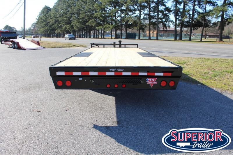2020 PJ Trailers 22ft F8 14K Deckover w/ Slide In Ramps