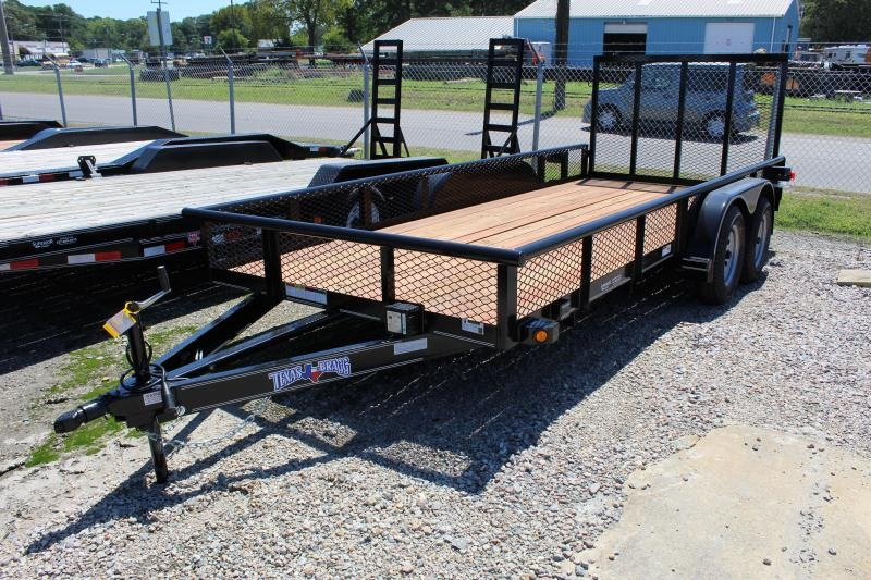 2019 Texas Bragg 16P Expanded Sides Utility Trailer