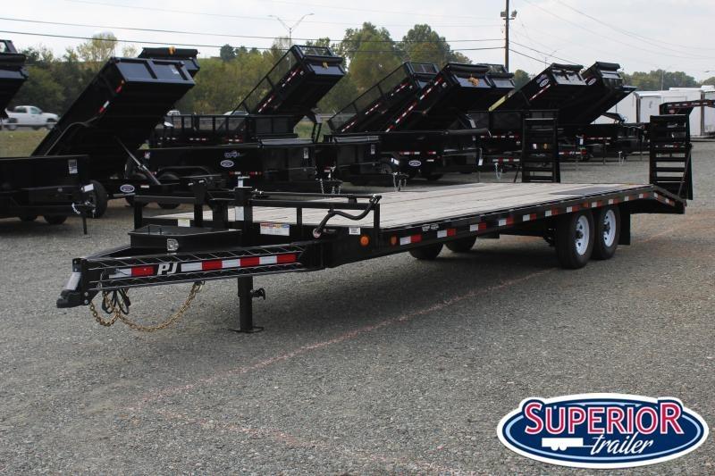 2020 PJ Trailers 26 F8 16K Deckover w/ Fold Up Ramps