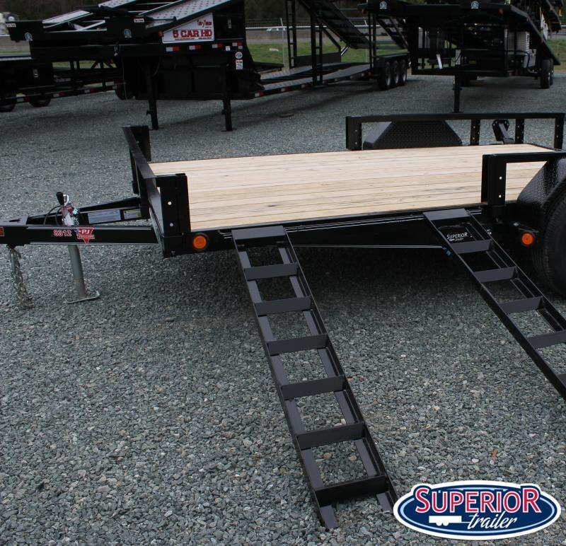 2020 PJ 7x14 5K U8 w/ Side Ramps and Gate