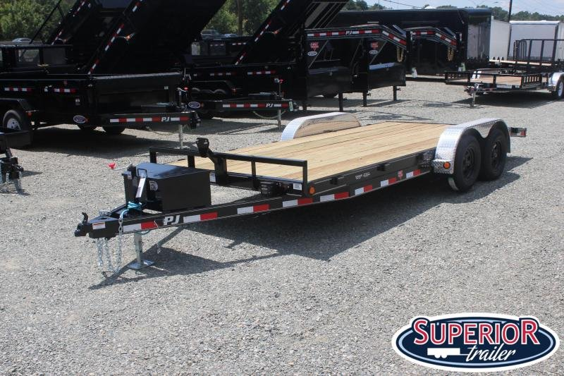 2020 PJ Trailers 18' C5 w/ Tongue Box and Rear Slide in Ramps