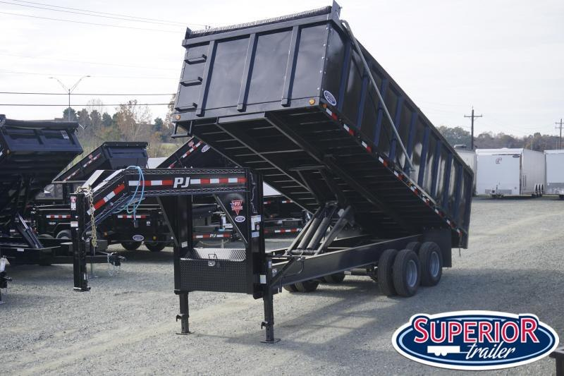 2020 Pre Owned PJ 8x20 DD Gooseneck Dump w/ 4' Sides and 12K Axles