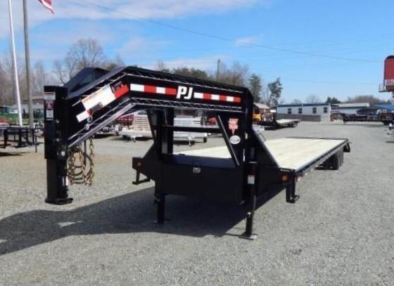 2019 PJ 40 FD Gooseneck w/ AIR RIDE DISC BRAKES 12K Axles and Monster Ramps