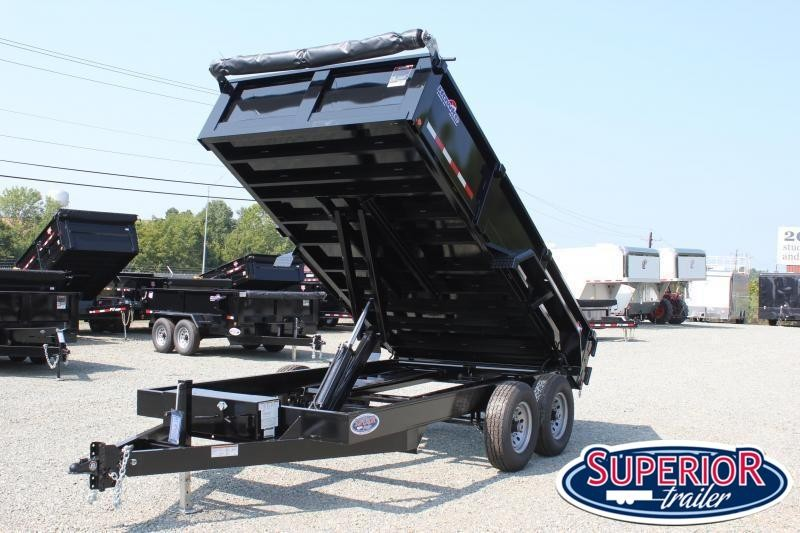 2020 Hawke 7x14 12K Dump w/ Spreader Gate Ramps and Tarp