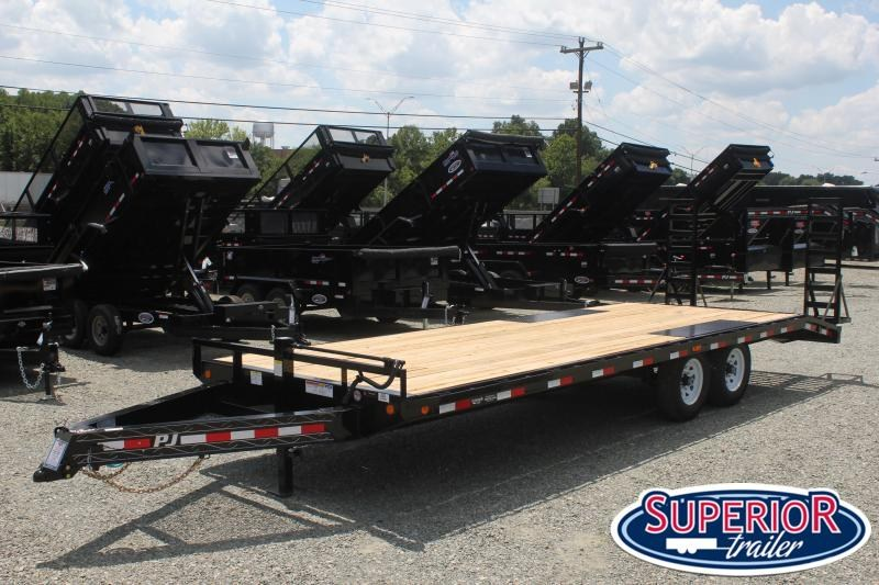 2020 PJ Trailers 24 F8 14K Deckover w/ Fold Up Ramps