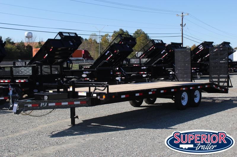 2020 PJ Trailers 24 F8 14K Deckover w/ 31x66 HD Expanded Ramps