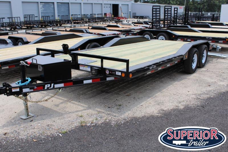 2020 PJ 20ft B5 10K w/ Rear Slide in Ramps