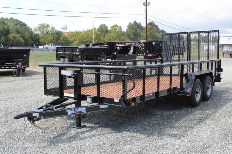 2019 Texas Bragg 18BP 10K w/ 2' Expanded Sides & Split Gate