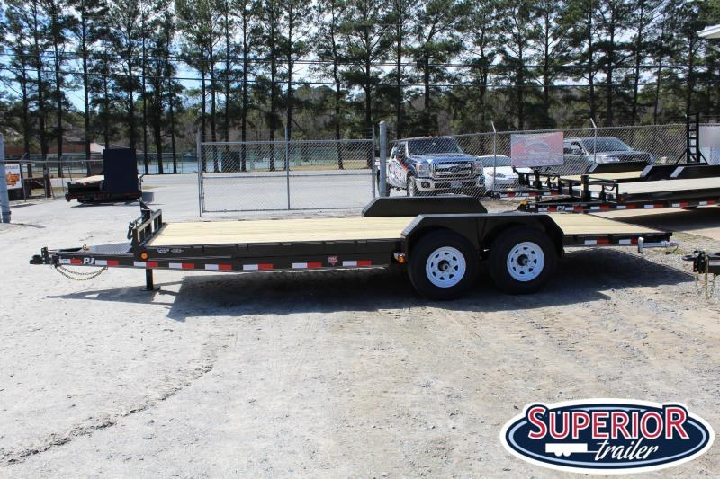 2019 PJ Trailers 20' CC 14K Equipment Trailer w/Slide In Ramps