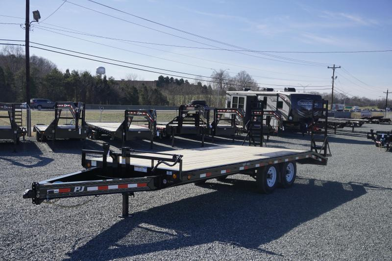 2020 PJ Trailers 20 F8 14K Deckover w/ Fold Up Ramps