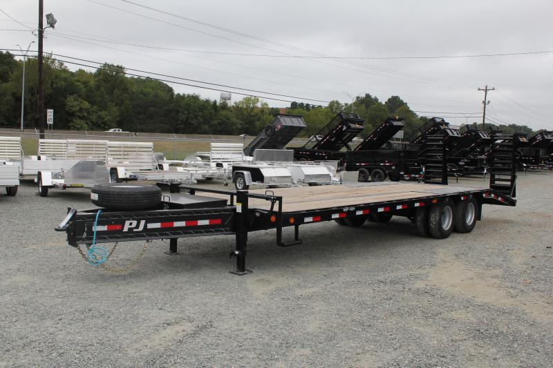 2020 PJ  PL Low Pro 26ft PL Pintle Flatbed  w/ Flip-over Ramps