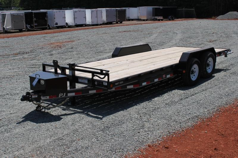 2020 PJ 20' CC 14K w/ Tongue Box and Slide in Ramps