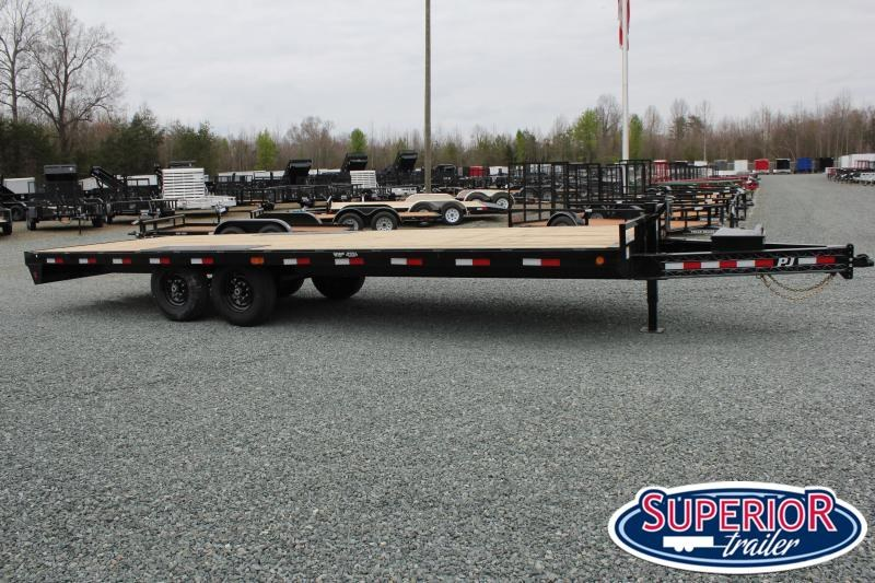 2020 PJ Trailers 24 F8 14K Deckover w/ Slide In Ramps