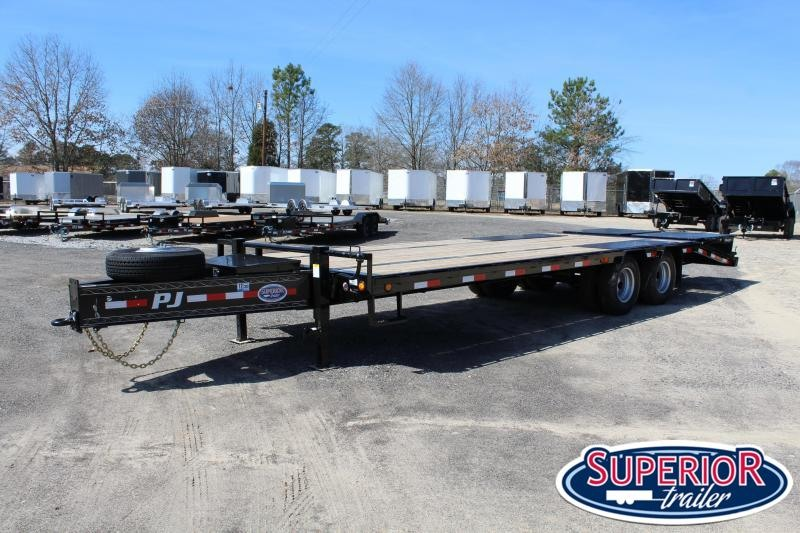 2020 PJ 25ft PL Flatbed w/ Flip-Over Monster Ramps