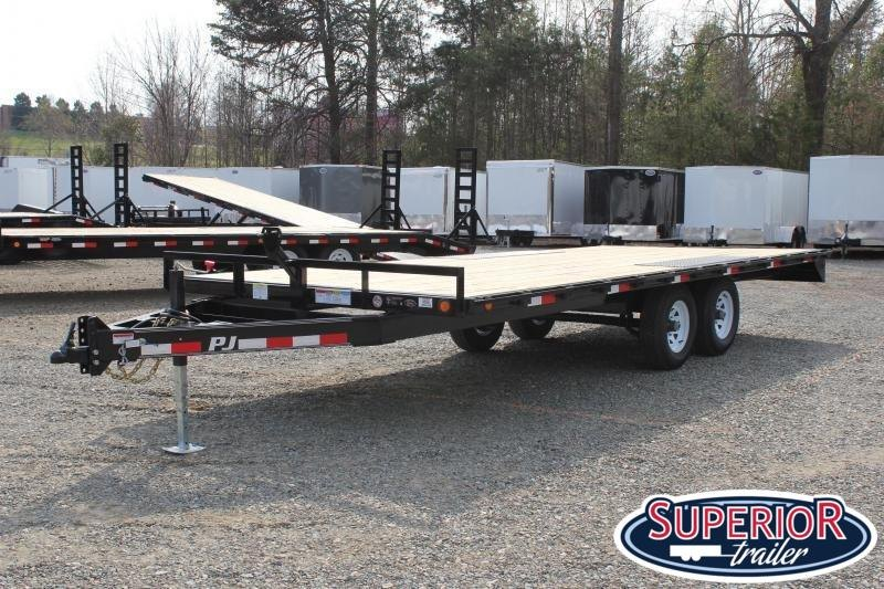 2020 PJ Trailers 20ft L6 10K Deckover w/ Slide in Ramps