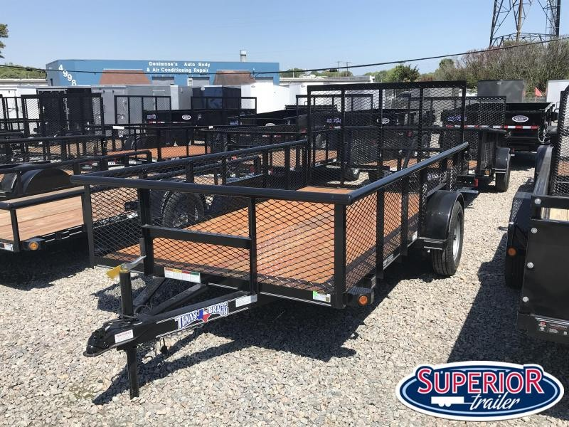 2020 Texas Bragg Trailers 6x12P 2ft Expanded Sides w/ Gate