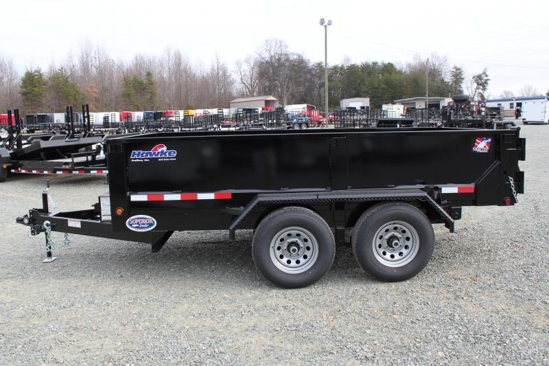 2019 Hawke 6X12 10K Dump w/ Spreader Gate and Ramps