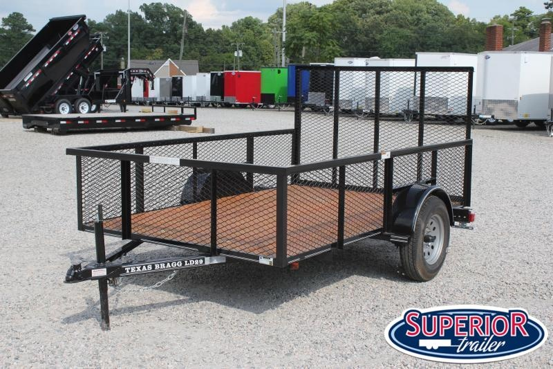 2020 Texas Bragg 6x10LD w/ 2ft Expanded Sides & Gate